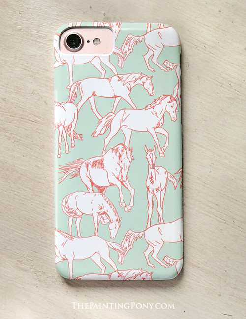 Horses All Over Equestrian Phone Case