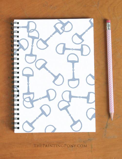 Horse Bits Pattern Equestrian Spiral Notebook