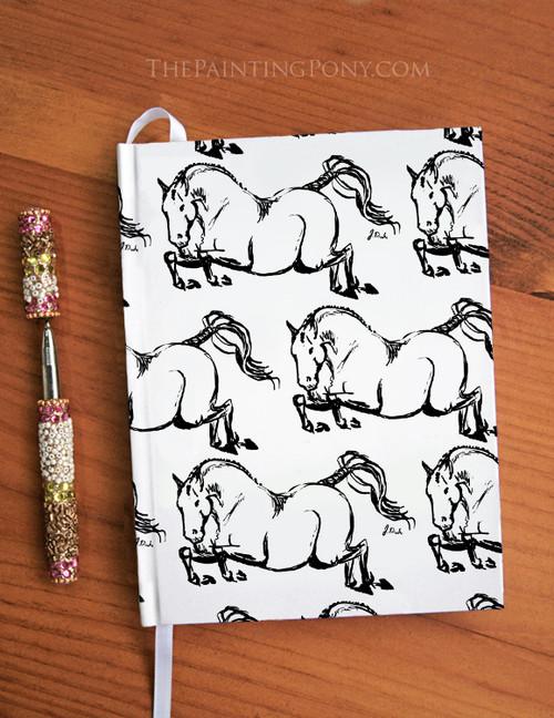 Jumping Horse Equestrian Designer Hardbound Journal