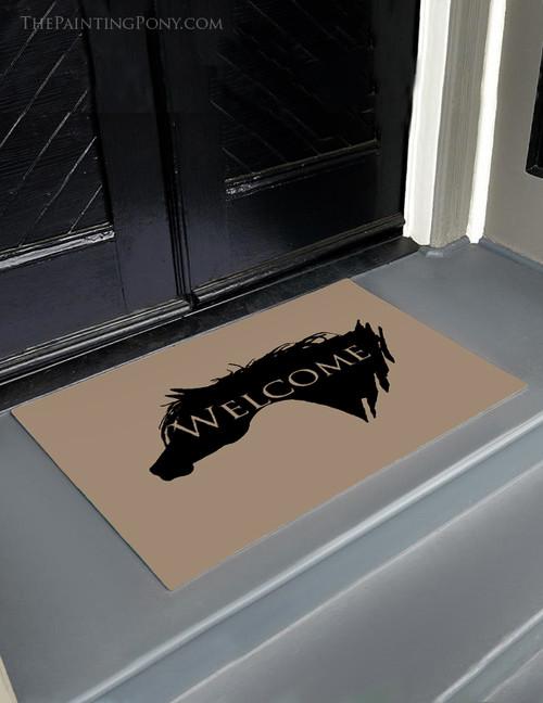 Arabian Horse Welcome Door Mat