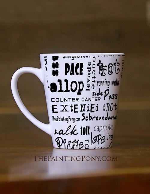 Horse Gaits Equestrian Latte Mug