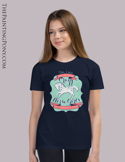 Crazy Horse Girl Equestrian Youth T-Shirt