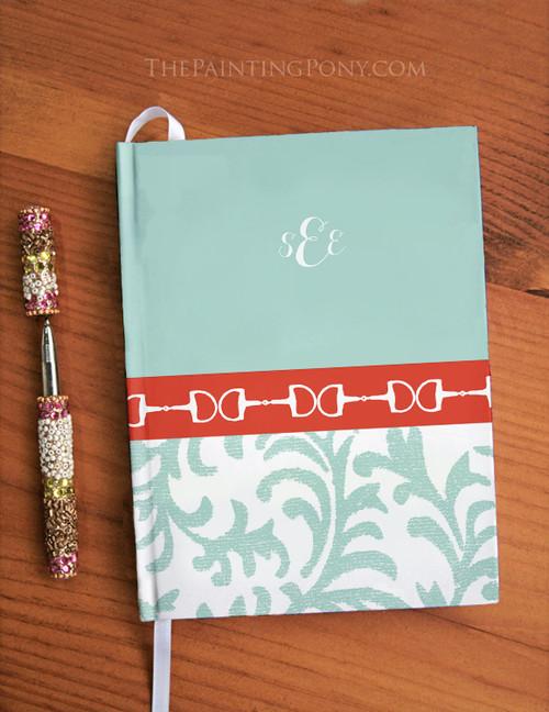 Monogramed Equestrian Designer Hardbound Journal