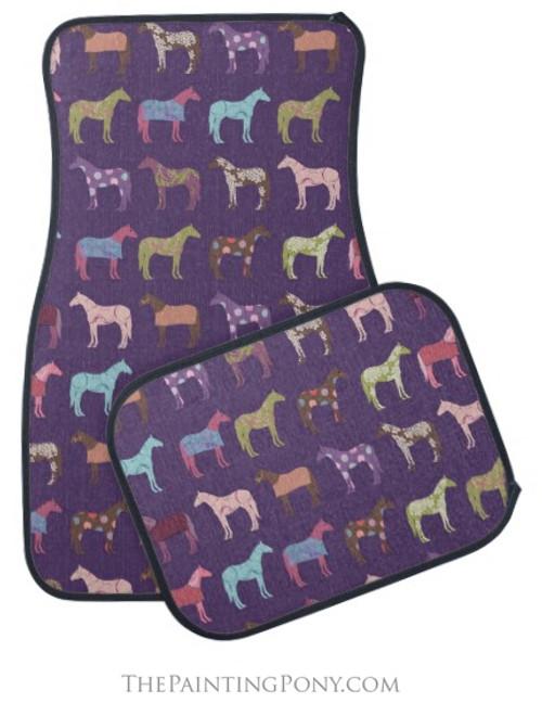 Fun Horses Equestrian Car Floor Mats