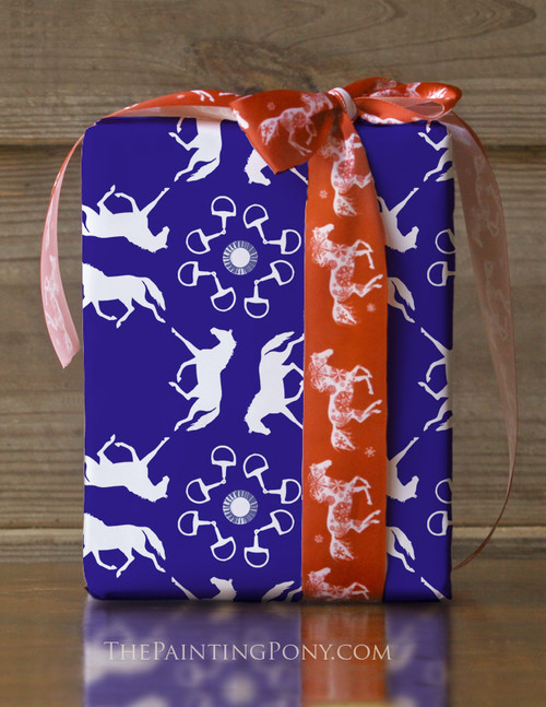 Trotting Ponies Birthday Party Gift Wrapping Paper