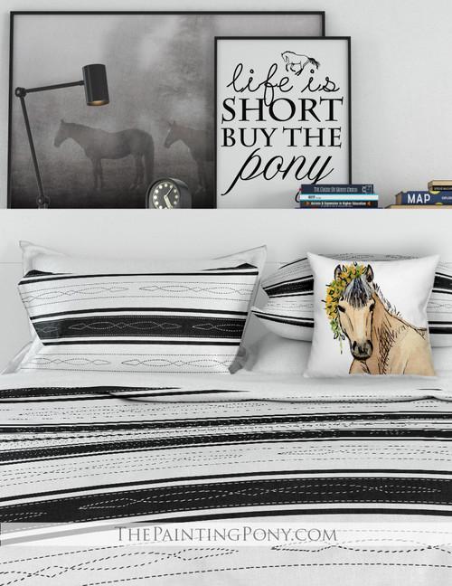 Fancy Horse Bridle Pattern Bedding Set