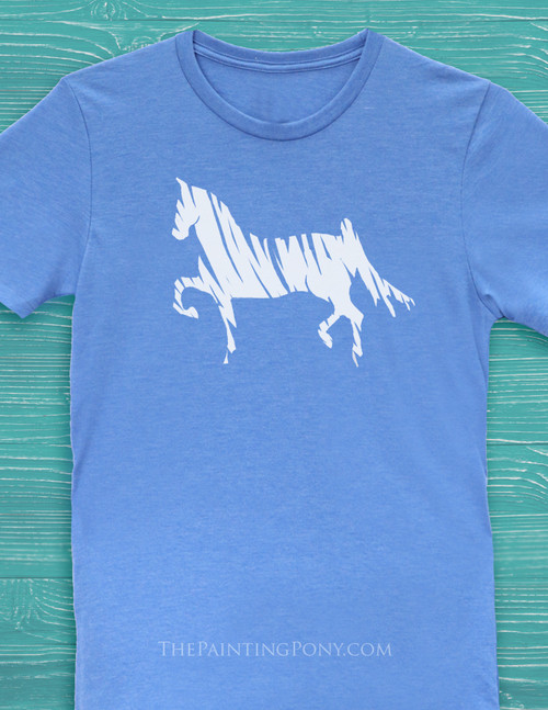 Saddlebred Horse Lover Adult T-Shirt