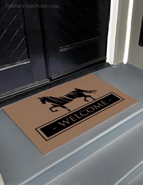 Saddlebred Horse Equestrian Welcome Door Mat