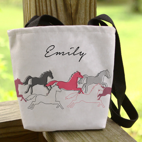 Personalized Galloping Horse Tote Bag