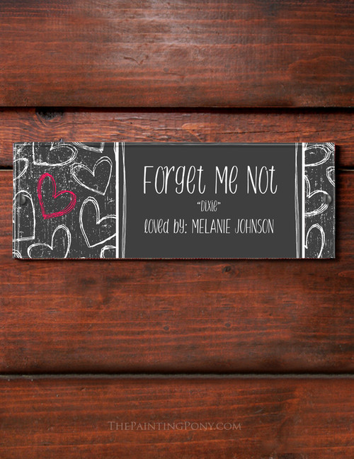 Fun Hearts Custom Horse Stall Name Plate
