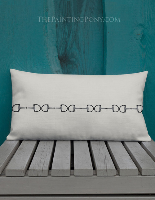Classic Horse Bit Pillow