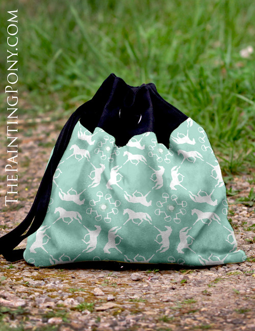 Horse Damask Patterned Sling Bag