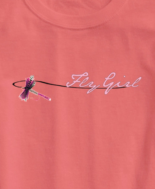 Fly Girl Ladies Fishing Tee Shirt