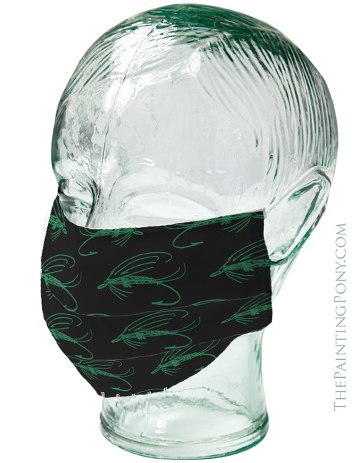 Abstract Wet Lure Fly Fishing Themed Face Mask Coverlet