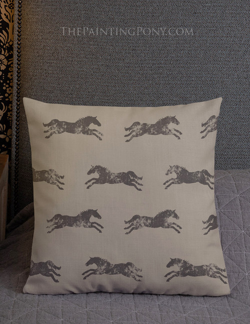 Classic Horse Black and Tan Pillow