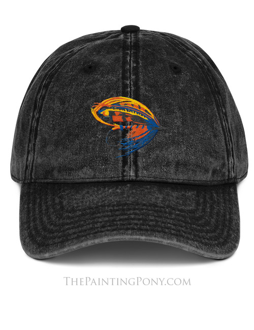 Salmon Fly Fishing Lure Emroidered Dad Hat