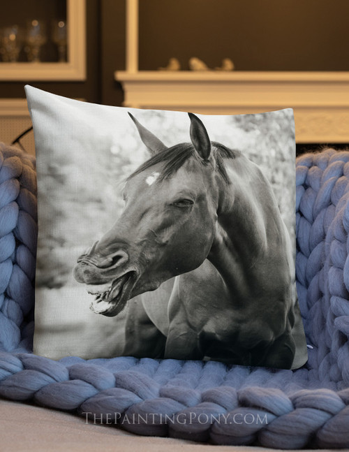 Laughing Horse Equestrian Pillow