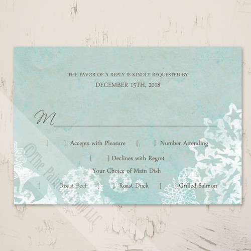 wedding response card or rsvp