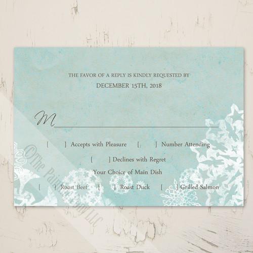 wedding response card or rsvp