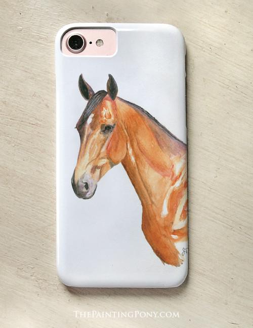 Bay Horse Head Equestrian Phone Case