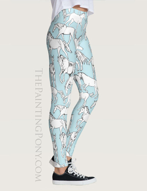 Horses All Over Equestrian Leggings