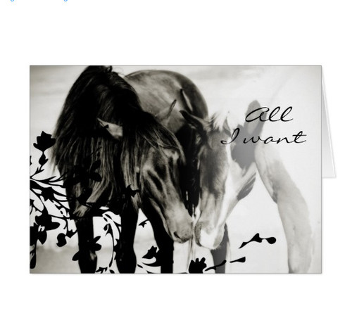 Forever Love Romantic Equestrian Greeting Card