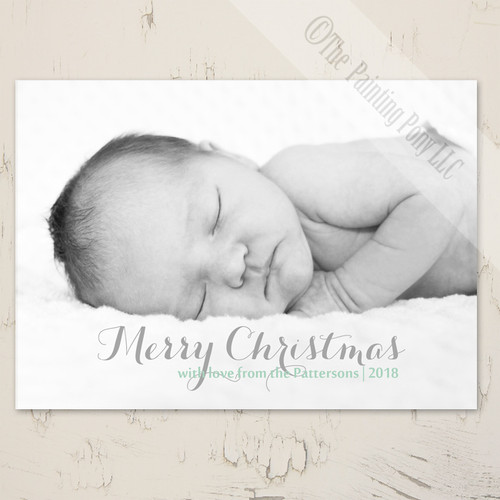 Baby's first Christmas Flat Photo Greeting Card