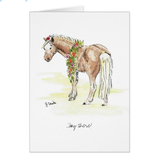 Whimsical Pony Birthday Greeting Card