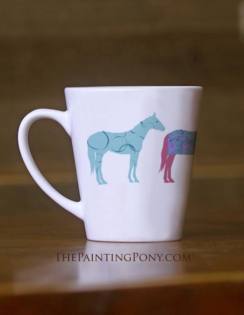 Fun Horses Equestrian Latte Mug
