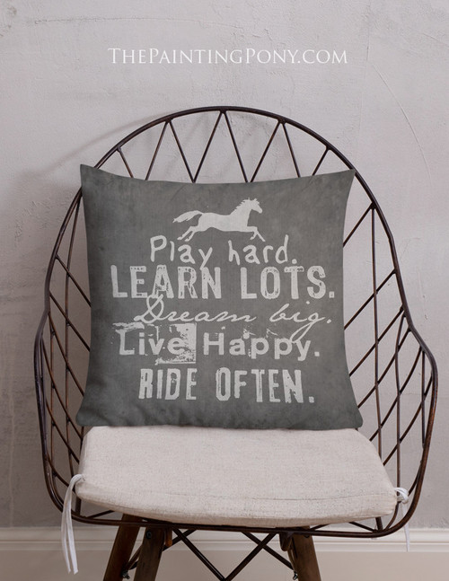 Ride Often Equestrian Throw Pillow