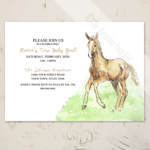 Horse Foal Baby Shower Invitation (10 pk)