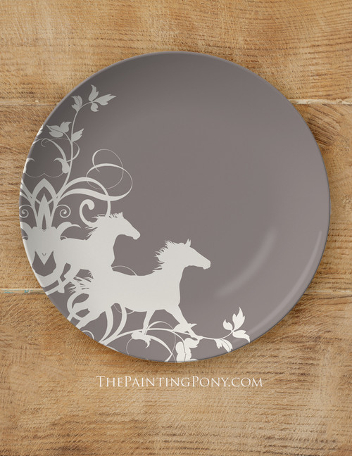 "Wild Horses Equestrian 10"" Plate"