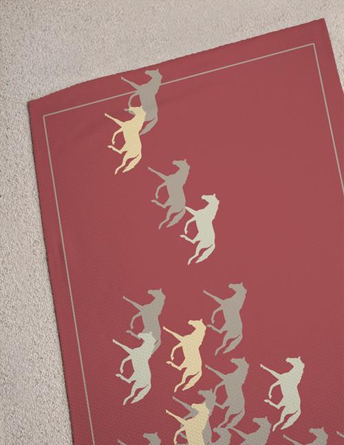 Trotting Horses Area Rug