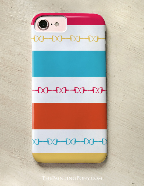 Colorful Modern Striped Horse Bit Pattern Phone Case