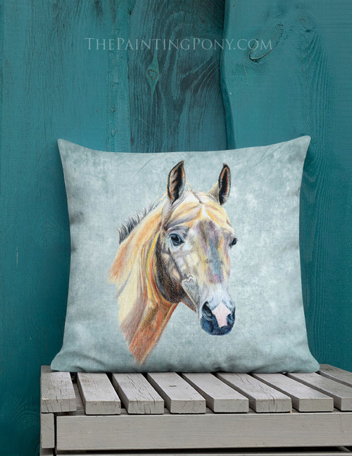 Akhal-Teke Horse Art Equestrian Throw Pillow