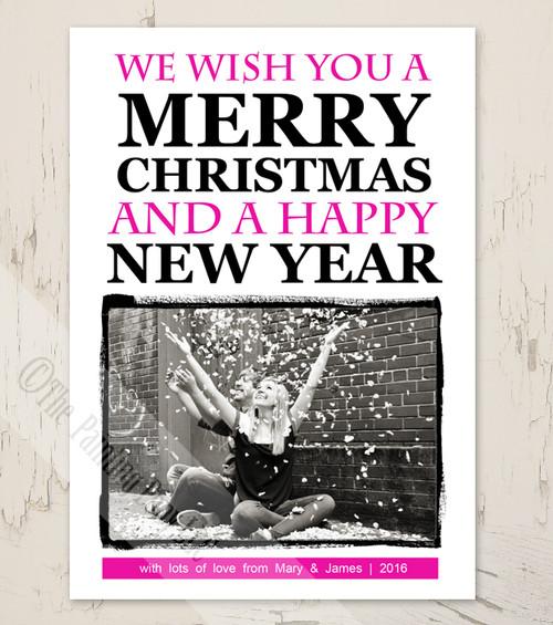 Modern Photo Print Christmas Cards