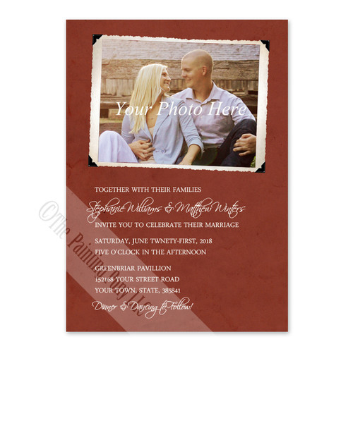 Vintage Photo Album Page Wedding Invitation 10 Pk