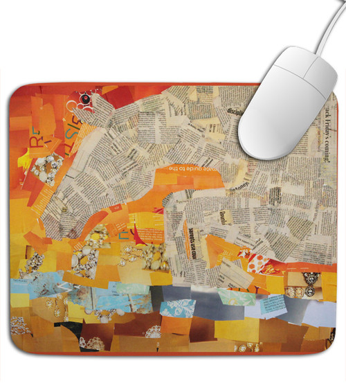 Jumping Horse Collage Art Mousepad