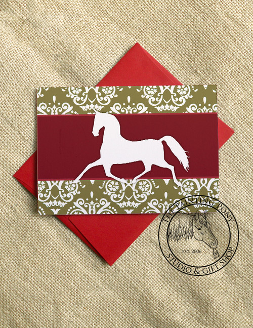 Damask Horse Christmas Cards (10 pk)