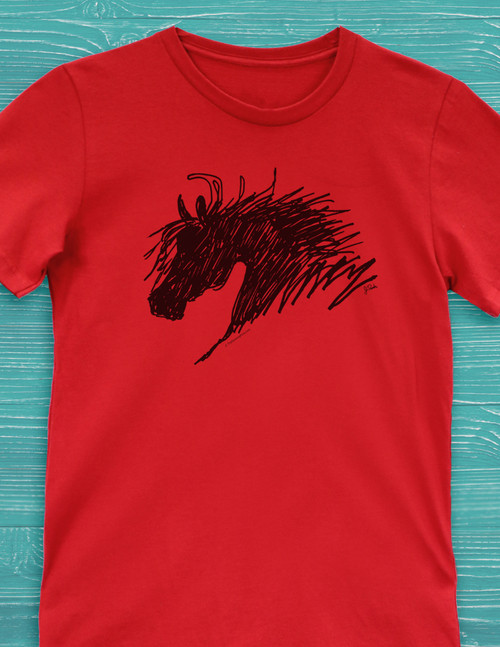 Abstract Horse Head T-Shirt