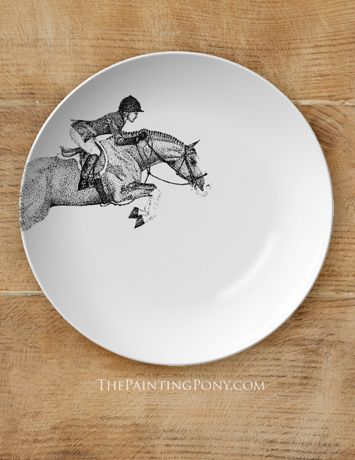 """Hunter Jumper Horse Equestrian 10"""" Plate"""