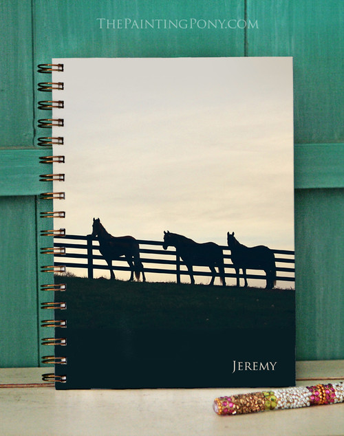 Personalized Horses at the Fence Bullet Journal