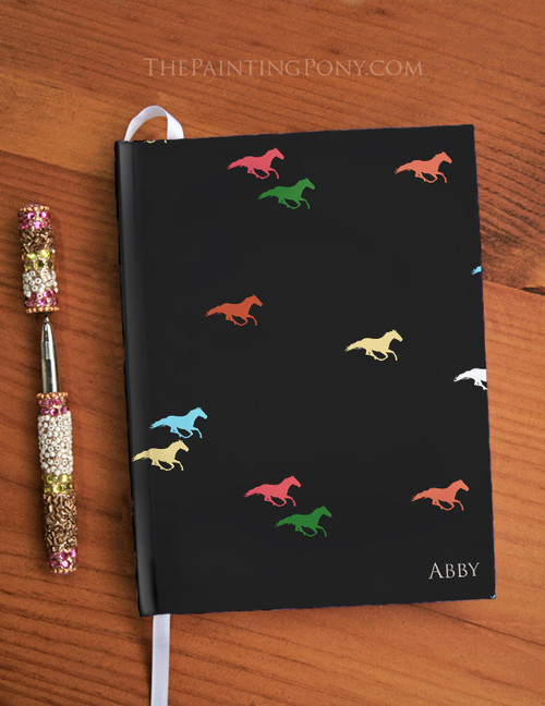 Personalized Galloping Horse Designer Hardbound Journal