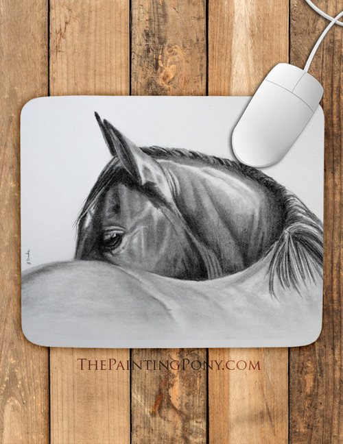 Horse Head Equestrian Art Mouse Pad