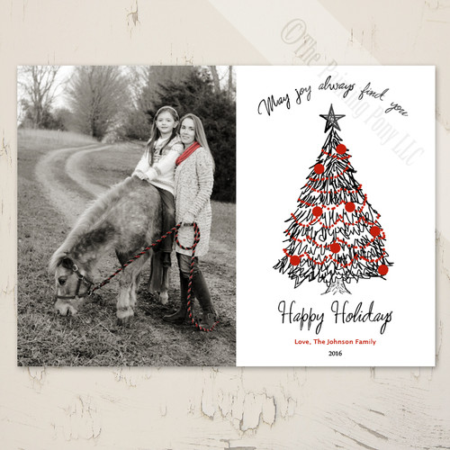 Christmas Tree Photo Template Card