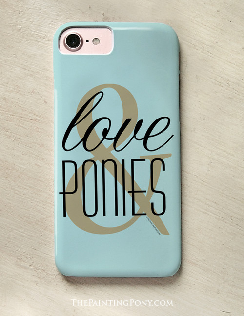 Love and Ponies Equestrian Phone Case