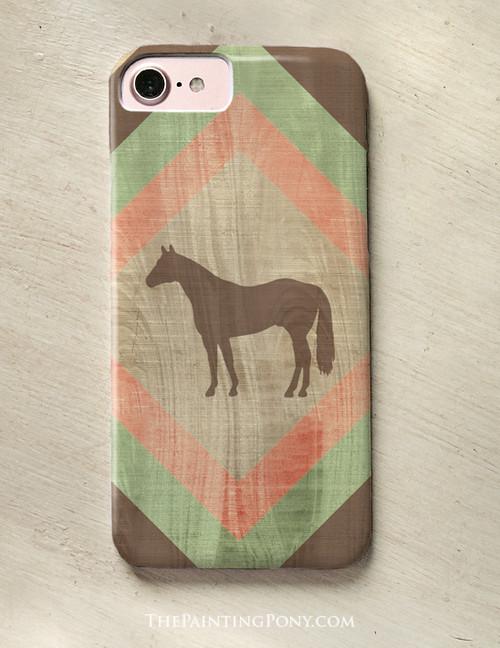 Southwestern Style Horse Lover Phone Case