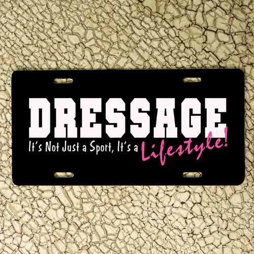 Dressage Horse Vanity License Plate