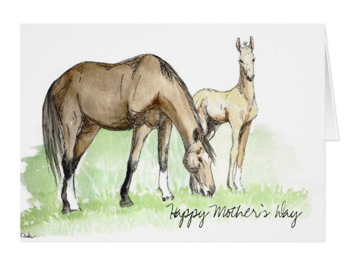 Horse Mother's Day Card