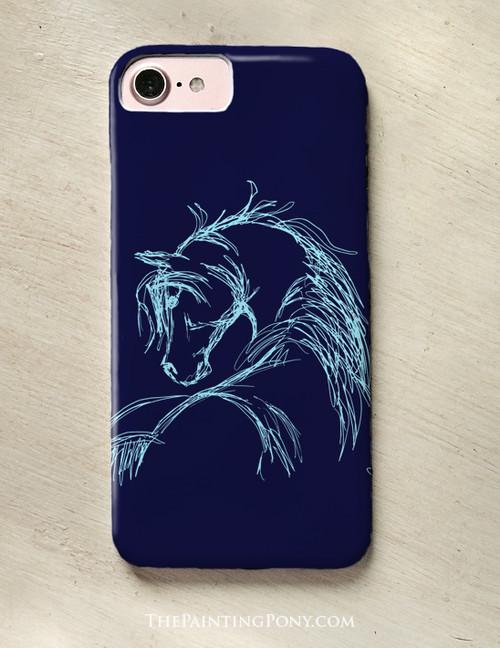 Horse Head Sketch Phone Case